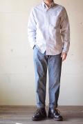 Workers Officer Trousers Slim Type1 8oz Chambray-1
