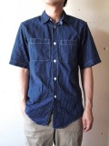 WORKERS 半袖Polka Dot Work Shirt