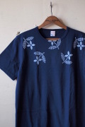 WORKERS Printed Tee Floral Navy-1