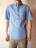 WORKERS S/S Pullover BD Shirt, Blue Check