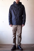 WORKERS RAF PARKA Reversed Sateen Black-1
