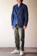 WORKERS Sack Coat Lt. Chambray Indigo-1