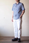 WORKERS Short Sleeve Work Shirt Lt. Chambray Gingham-1