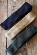 WORKERS Silk Knit Tie Gold/Forest/Midnight-1