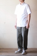 WORKERS S/S BD Shirt, Pin OX White-1