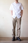WORKERS S/S Work Shirt, White Broadcloth-1