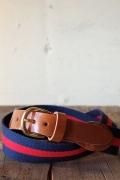 WORKERS K&T H Surcingle Belt, Red-Navy 1