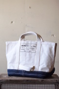 WORKERS Tool Bag Medium Short Handle Ecru×Navy-1