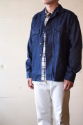 WORKERS USMC M-58 Fatigue Shirt 8.5oz Flat Denim-1