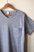 WORKERS V Neck Pocket Tee Grey-1