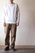 WORKERS V Sweat Shirt, White-1
