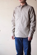 WORKERS Widespread Collar Shirt Brushed Twill Beige-1