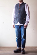 WORKERS Cruiser Vest Homespun Tweed Grey-1