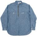 Zip Work Shirt Blue Chambray