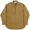 Zip Work Shirt Khaki Shirting
