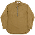 Zip Work Shirt Khaki Shirting