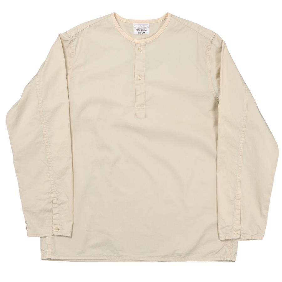 Sleeping Shirt Long Sleeve Ecru Twill