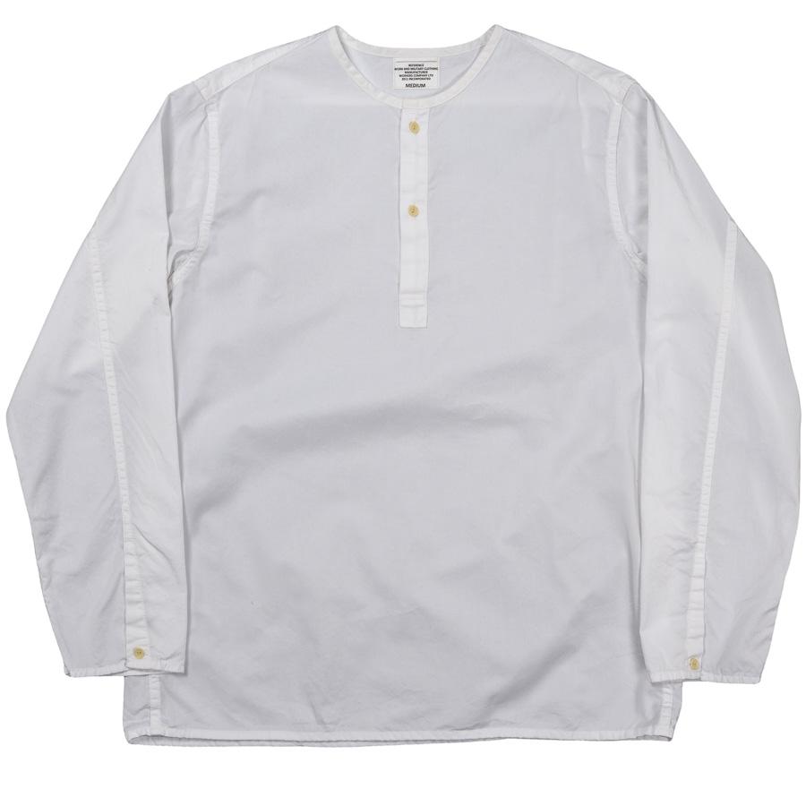 Sleeping Shirt Long Sleeve White Twill