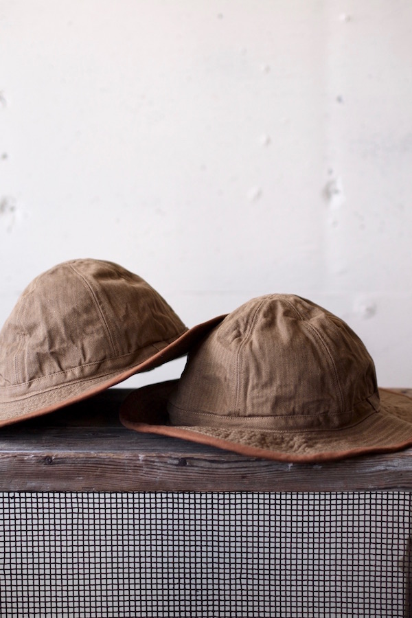 TCB jeans 30's Hat (US.Army Hat) Brown Herringbone-1