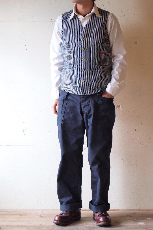 TCBjeans Engineer Vest, Hickory-Main1