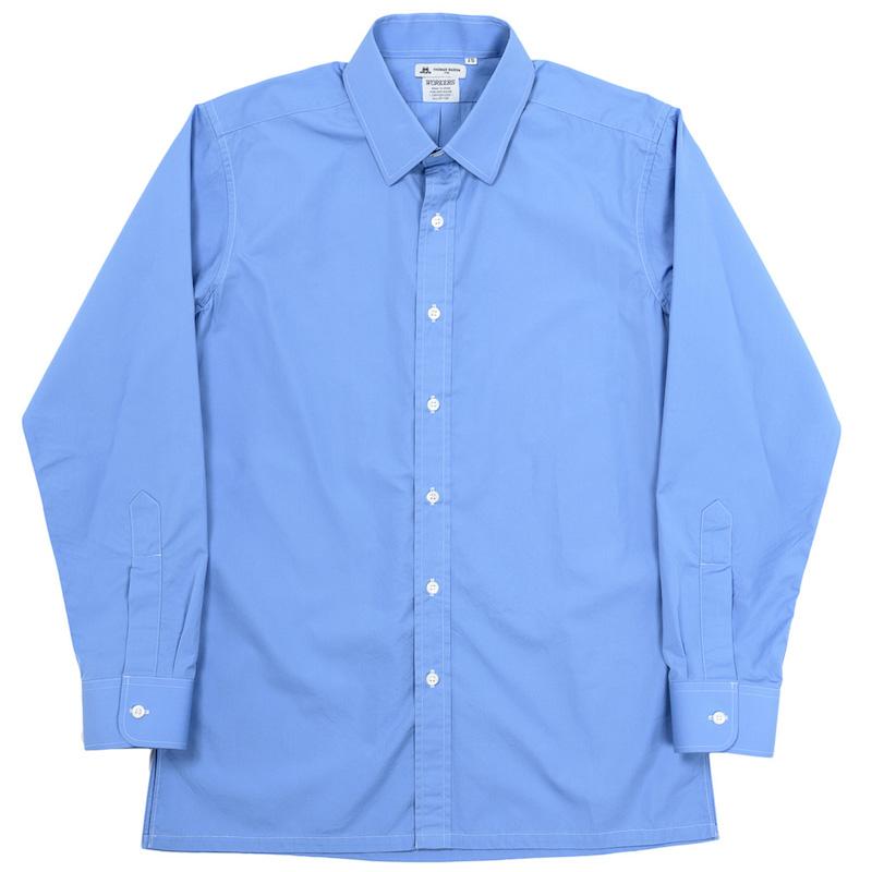 Vendome Shirt Blue Poplin Thomas Mason
