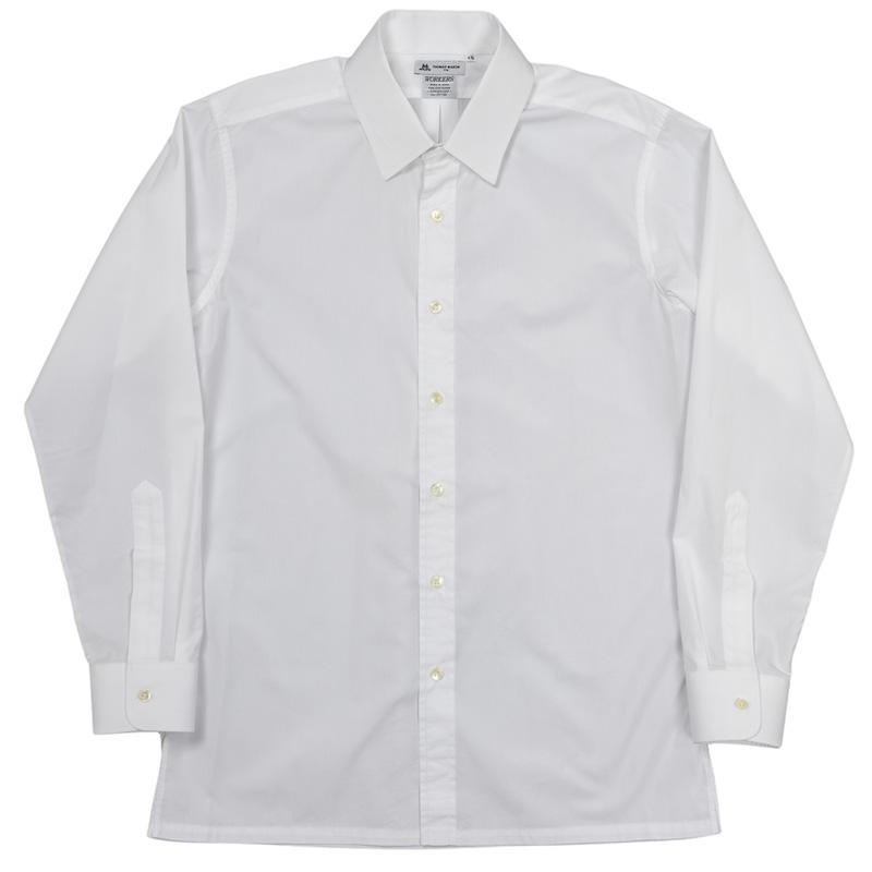 Vendome Shirt White Poplin Thomas Mason
