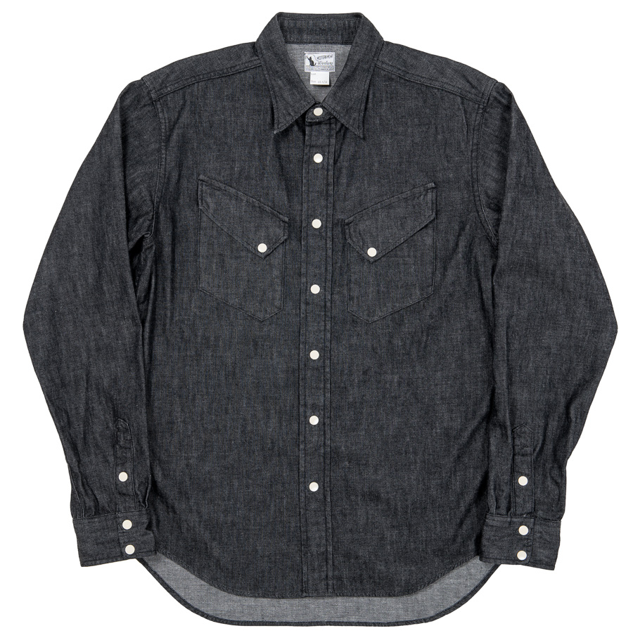 Western Shirt 8oz Black Denim OW