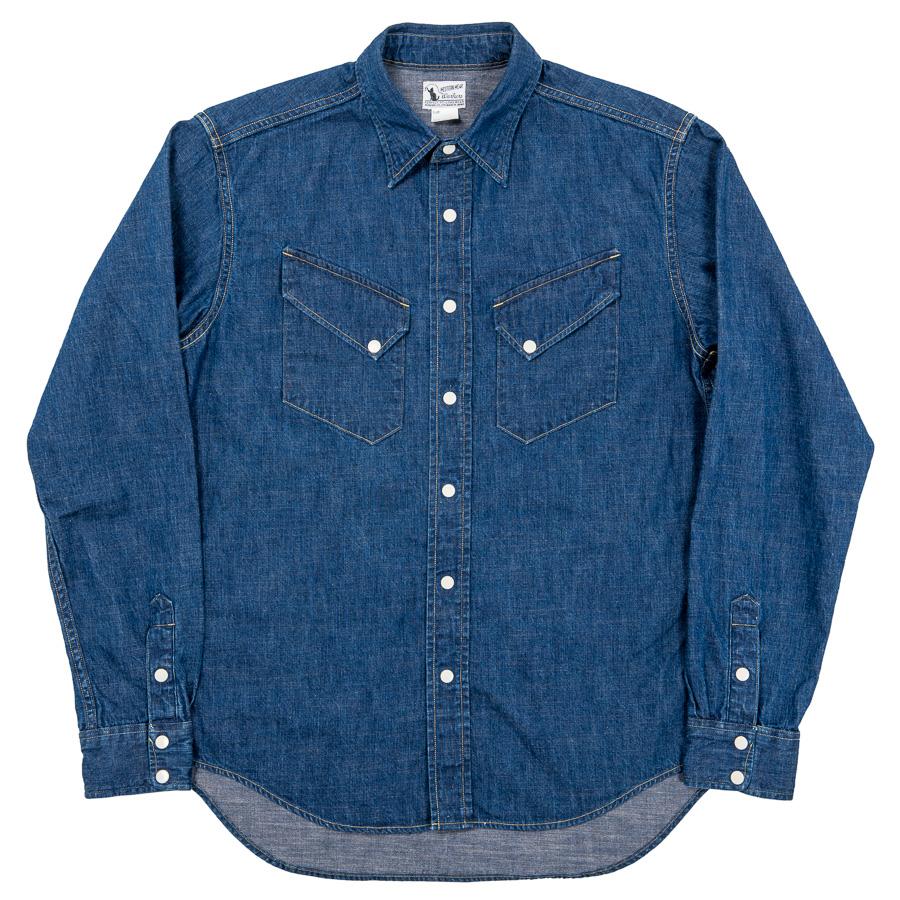Western Shirt 8oz Indigo Denim Washed