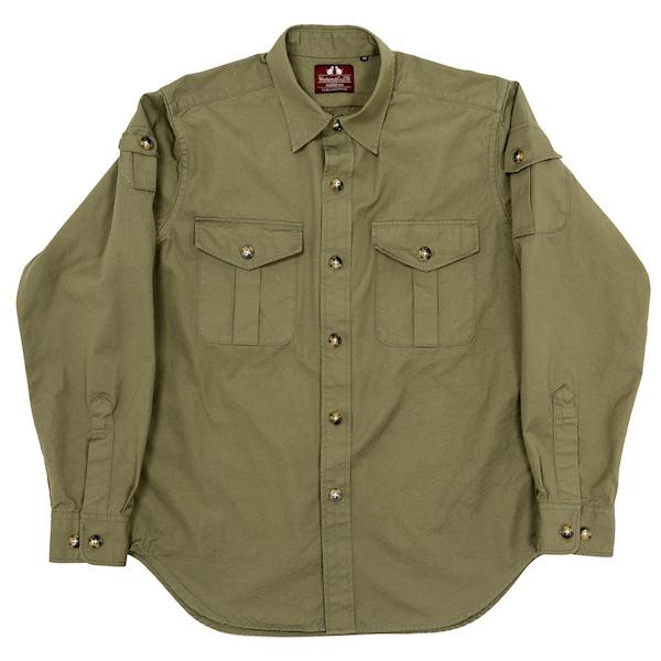 W&G Shirt Olive Poplin