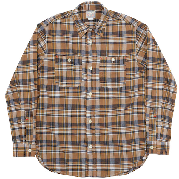 Work Shirt Orange Madras