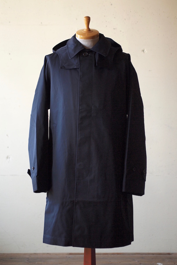 WORKERS Bal Collar Coat Gabardine Navy-1