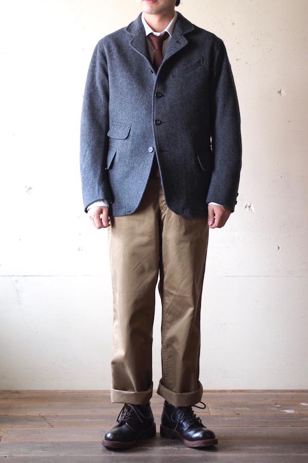 WORKERS Creole JKT Wool Pattern Tweed-1
