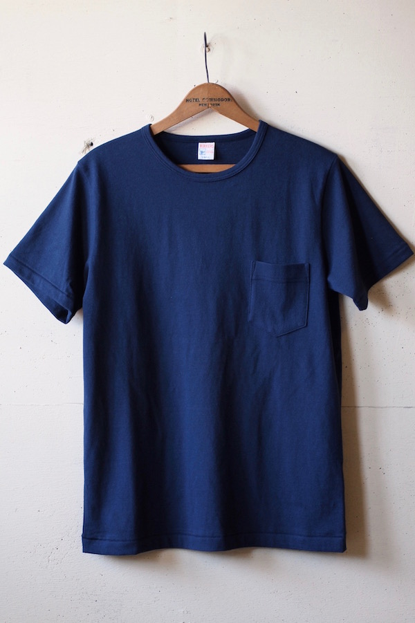 WORKERS Crew Neck Pocket Tee Navy-1