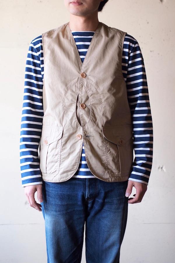 WORKERS Cruiser Vest Cotton×Linen Twill Beige-1