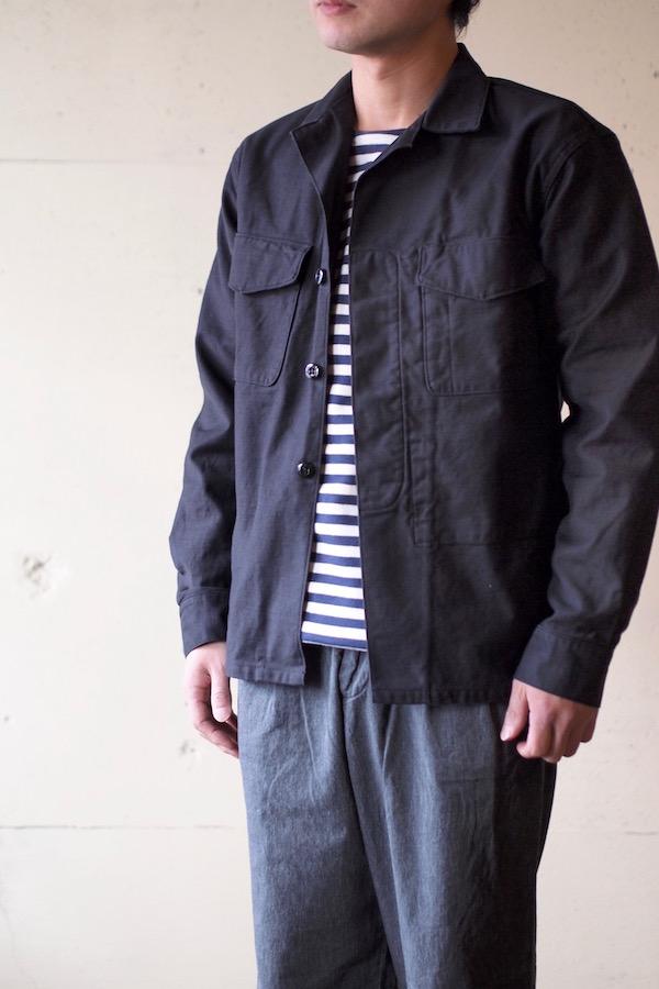 WORKERS Fatigue Shirt MIL-Reversed Sateen Black-1