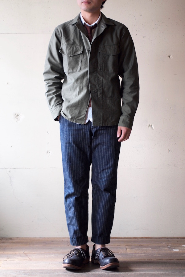 WORKERS Fatigue Shirt MIL-Reversed Sateen OD-1