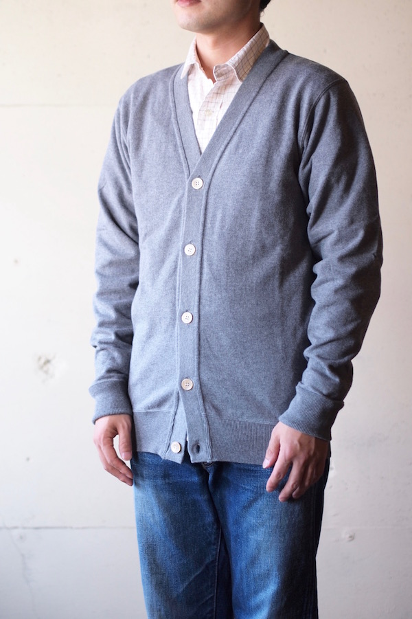 WORKERS FC Knit Medium Weight Cardigan Grey-1