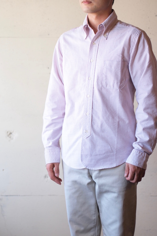 WORKERS Lot.20 Modified BD Shirt Red Stripe-1