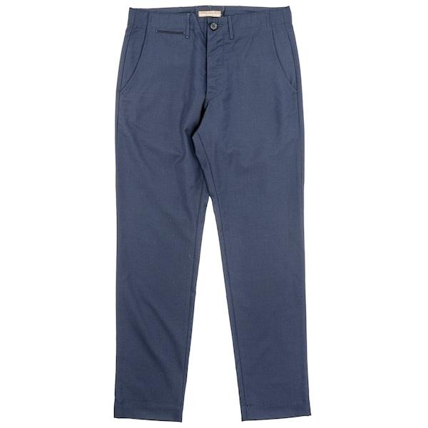 Officer Trousers Slim Type-1 Wool tropical Dark Navy