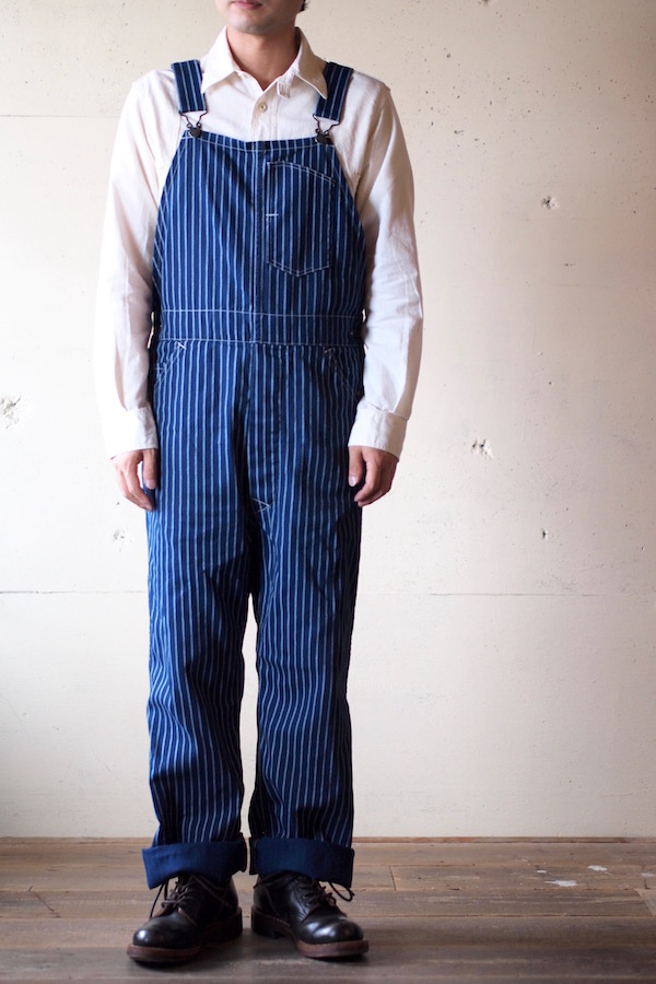 WORKERS Overall Indigo Double Dot-1