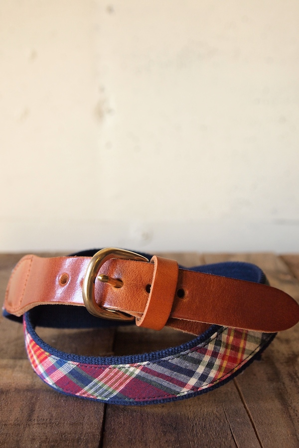 WORKERS K&T H Surcingle Belt, Red Madras-1