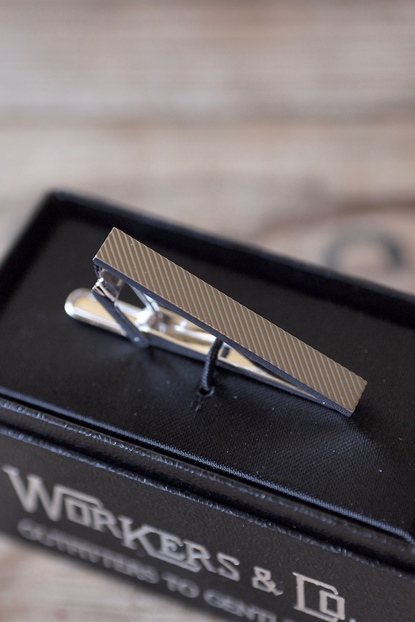 WORKERS Tie Clip Regimental Stripe-1