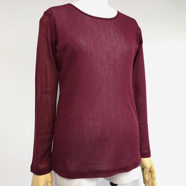 綿ネット ラウントネックTシャツ【M・L2サイズ展開】【49108】