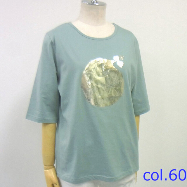 【50%off】水滴箔プリントTシャツ【54560】