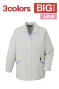 【BIGサイズ】【秋冬】IEC61340-1-5-1適合の高制電レディス長袖スモック80425