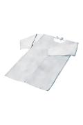 床皮割烹着型袖付きエプロン