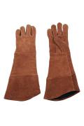 長い皮手袋
