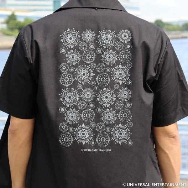 【オープンカラーシャツ】ハナビ