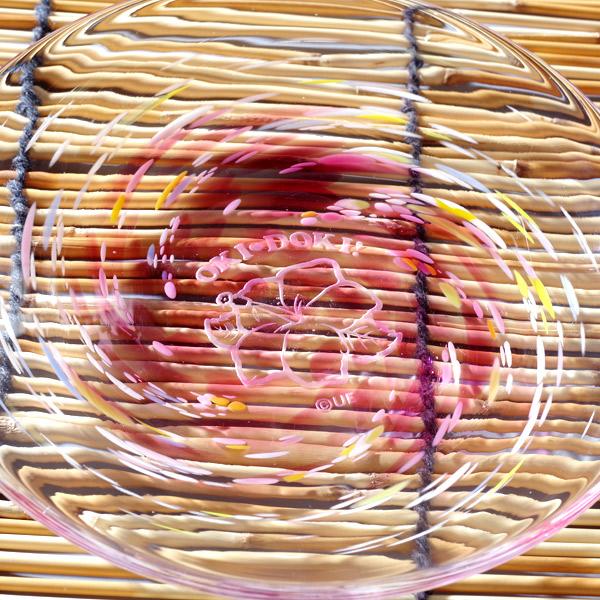 【受注生産】【琉球ガラス皿】沖ドキ!