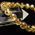 ゴールドルチル ブレスレット ルチルクォーツ 針水晶 金運 数珠 天然石 パワーストーン